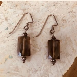 Jewelry - Sterling and smokey quartz earrings